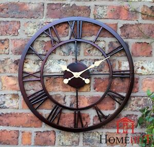Merveilleux Image Is Loading LARGE OUTDOOR GARDEN WALL CLOCK BIG ROMAN NUMERALS