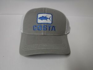 834d9510b29 Details about New Costa Tuna Trucker Hat Gray