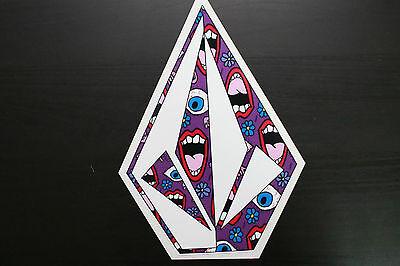 Volcom Stone Neon Paint Splash Sticker Vinyl 6x8  Surf Skate Snowboard Car Truck