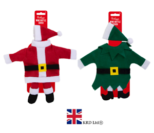 Fancy Santa Claus Outfit Christmas Wine Bottle Bag Cover Xmas Table Decor UK