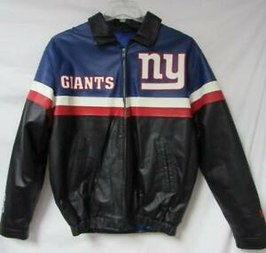 various colors 0eb61 207fb New York Giants Mens Size Large Full Zip Leather Jacket A1 ...