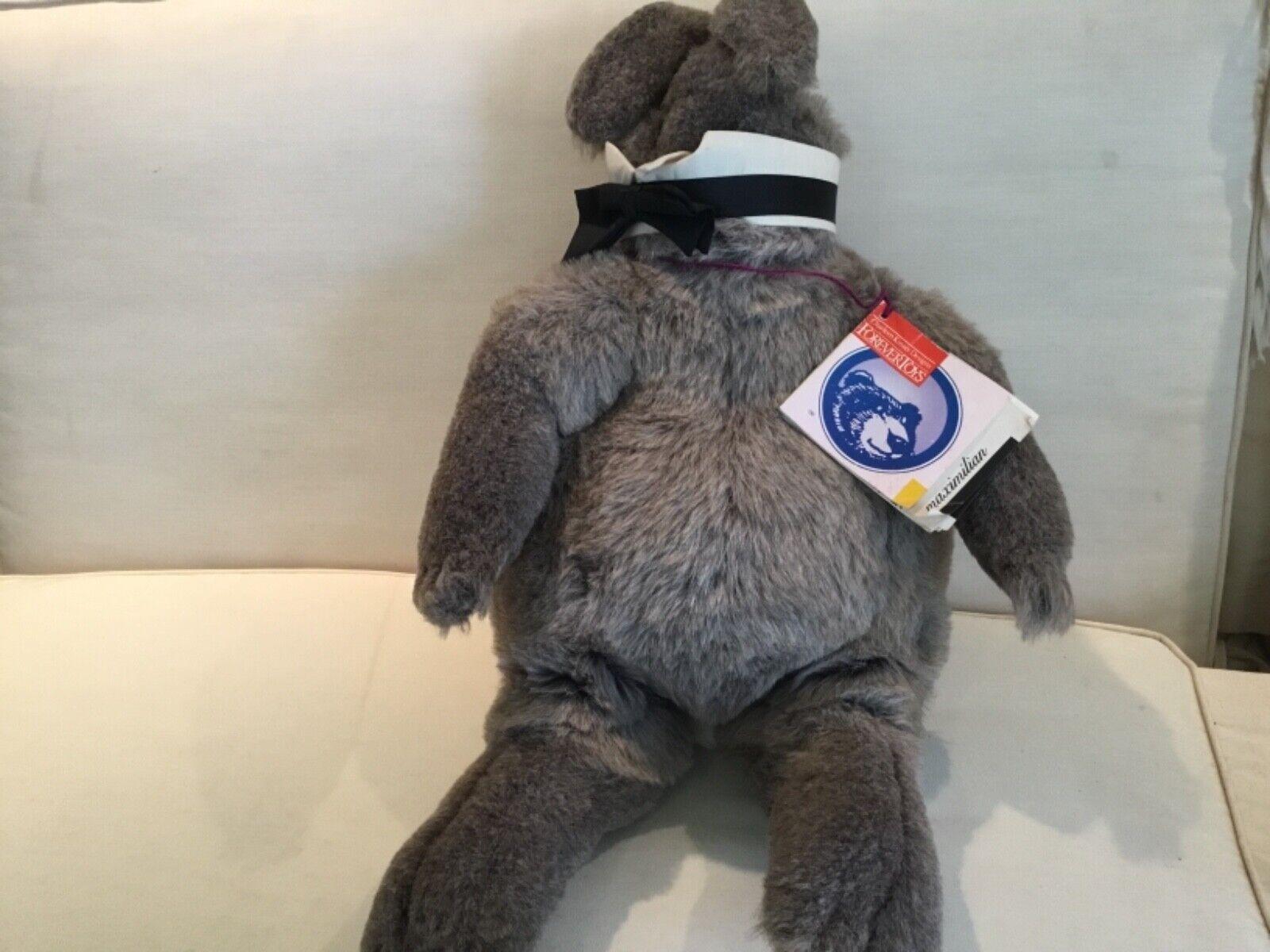 """Charleen Kinser Maximilian Stuffed Animal Plush Forever Toys 24"""" Rabbitt Tuxedo"""