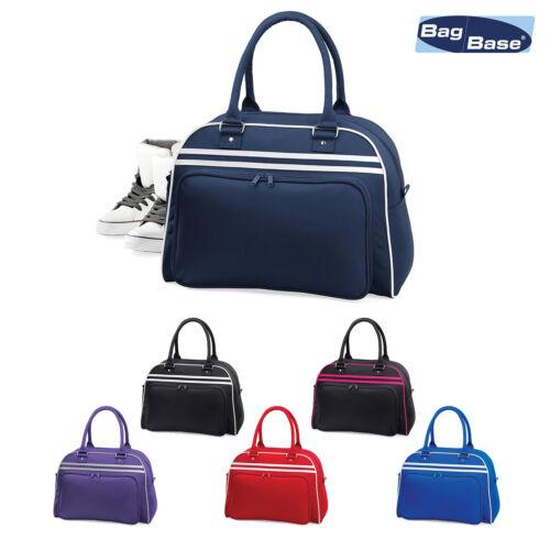 Bagbase Unisex Retro Bowling Bag BG75-Palestra Lavoro Carry Sacca Borsa a tracolla a mano