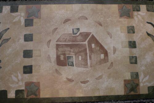 Rustic Country Green /& Brown Pineapple /& House Border by Chesapeake HA61052B