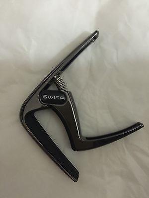 Two pcs Silver /& Black Acoustic Ukulele Quick Change Tune Key Capo Clamp K8-U