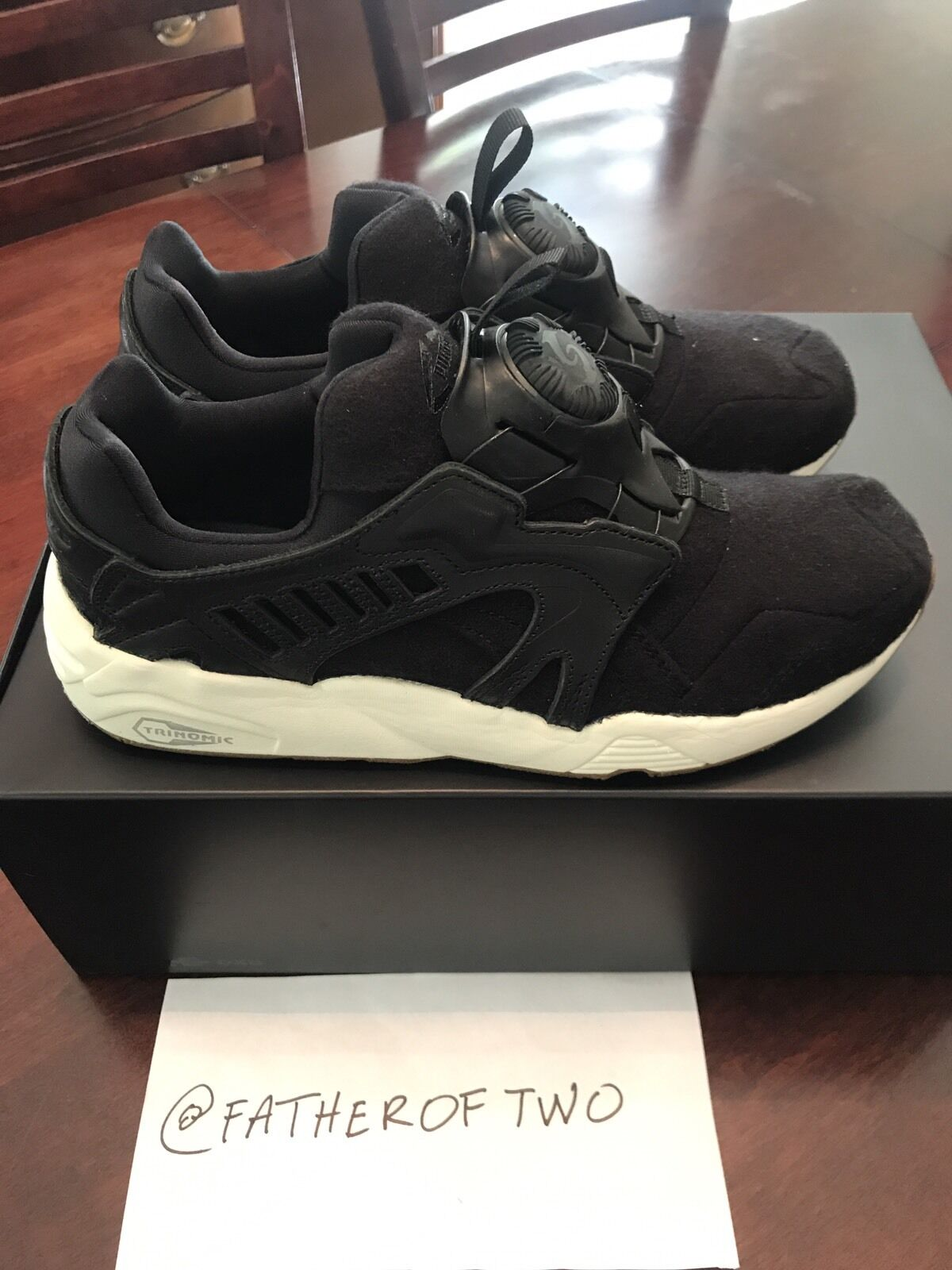 New Authentic Sole DXB x Puma Disc 'Asphalt Black' SAMPLE US Comfortable