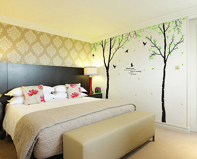 Giant Tree+Birds Wall decals Removable stickers home decor DIY art kids nursery