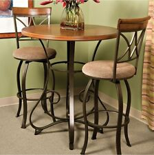 Pub Table Bar Counter Height Cherry Wood Bronze Metal Bistro Kitchen Furniture