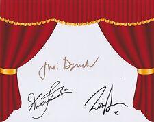 Judi Dench, Lily James & Derek Jacobi HAND SIGNED 8x10 Photo, Autograph