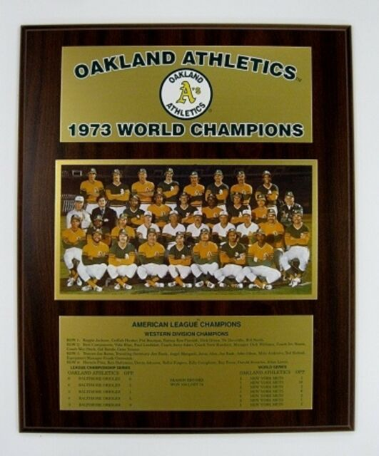 Oakland Athletics 1973 World Series Championship Plaque by Healy Awards