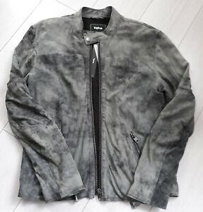 Tigha-Herren-Lederjacke-Daniel-Suede-Vintage-Grey-Grau-Size-L-UVP-299-95
