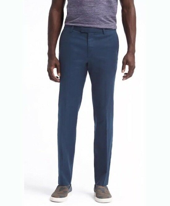 Banana Republic Men 35x32 Slim Fit Performance Linen Blend Stretch Pants