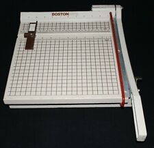 Boston 2612 Paper Cutter 12 Trimmer Heavy Duty Wood Metal Guillotine Usa