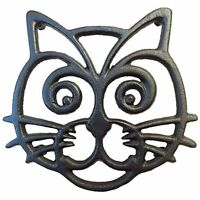 Cat Trivet - Black Cast Iron - For Kitchen & Dining Table - More Than One Makes on sale
