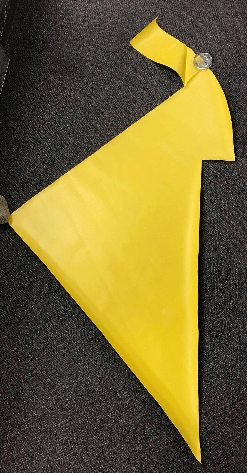Yellow ORCA Dinghy 114cm x 116cm Repair Material Boat