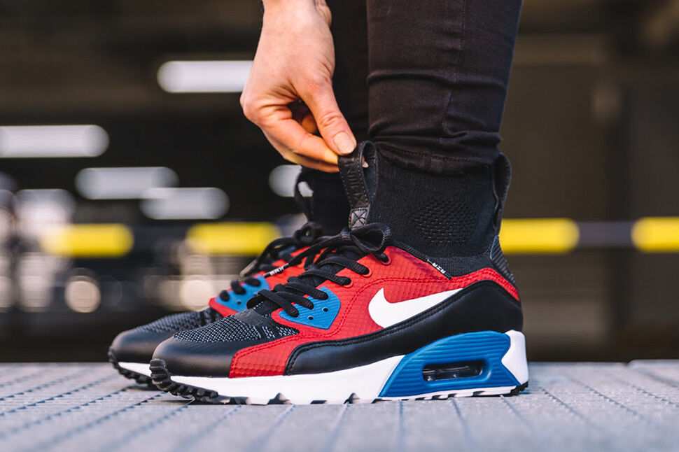 Nike AIR MAX MAX MAX 90 Flyknit HTM Ultra SUPERFLY EUR 46 US 12 NikeLab 1 Nero Ds 046a02