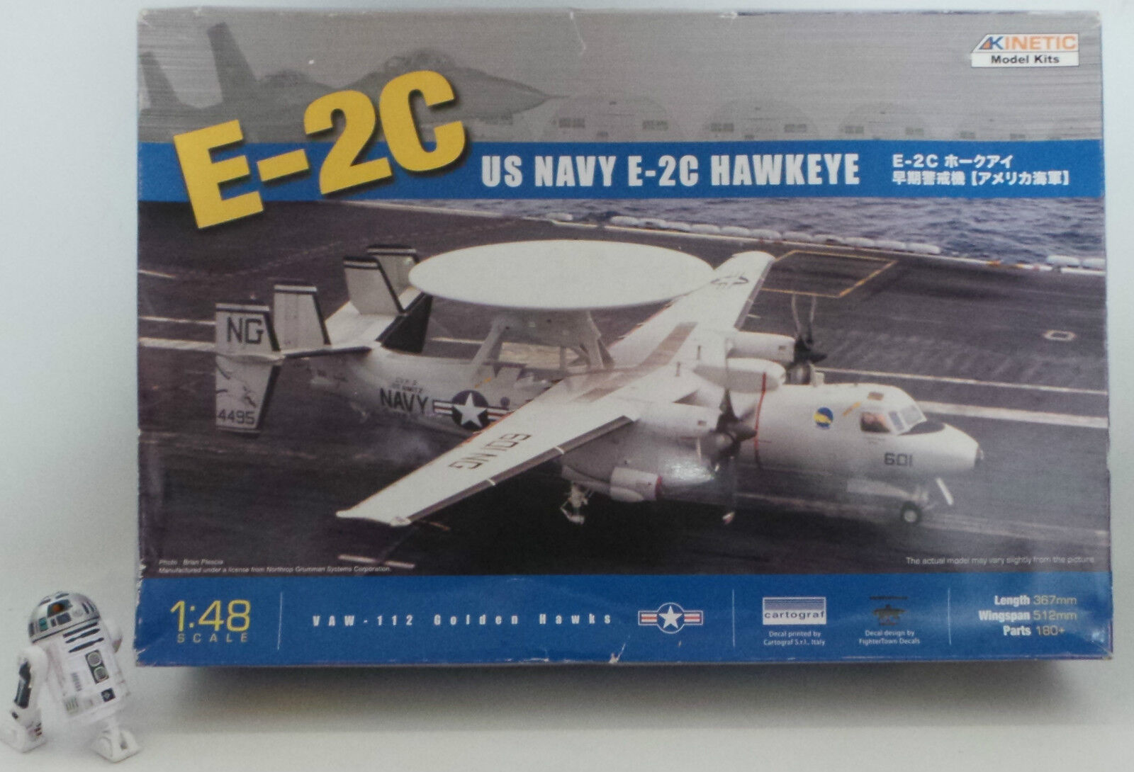 AVIATION    US NAVY E-2C HAWKEYE MODEL KIT MADE BY KINETIC TOYS IN 2009