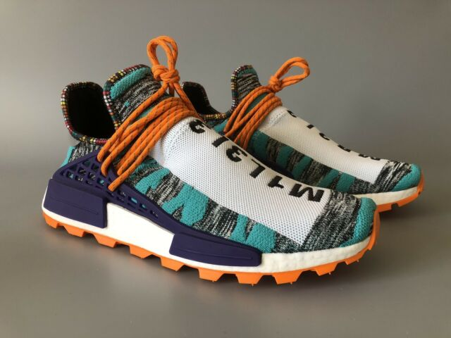 ADIDAS Pharrell Williams Afro HU NMD Solare UK8 US8.5 100% Autentico BB9528