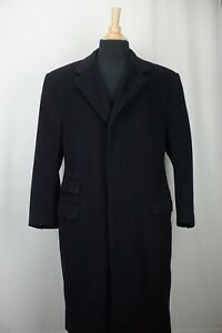Ralph Lauren Purple Label Navy Blue 100% Cashmere Mens Overcoat Sz 42