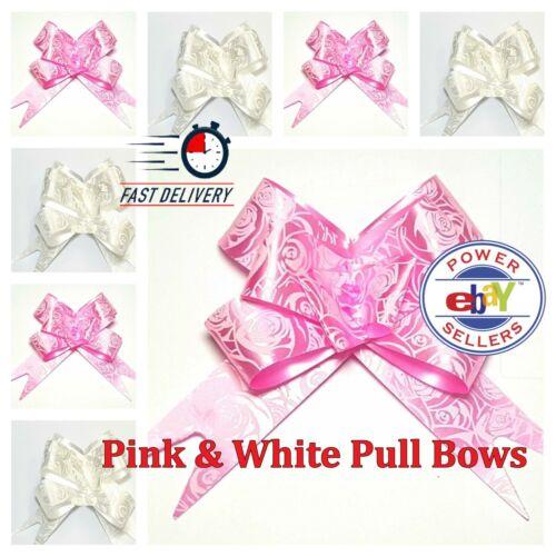 100 Pull Bows 30mm Wedding Car Gift Wrap Ribbon Florist WATERPROOF Decorations