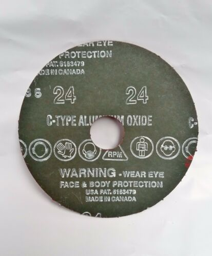 "4-1//2/"" x 7//8/"" Fiber Resin Sanding Disc Aluminum Oxide 24 Grit 50 Discs LTS"