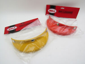 BELL-520-Orange-amp-Yellow-CUSTOMIZED-VISOR-PEAK-HELMET-Vintage-500-TX-Magnum-NEW
