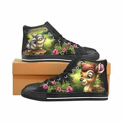 Bambi & Thumper Uomo's Classic High Top Canvas Shoes Disney