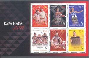 Qualifié Nouvelle-zélande-kapa Haka Feuille 2011 M Neuf Sans Charnière Style à La Mode;