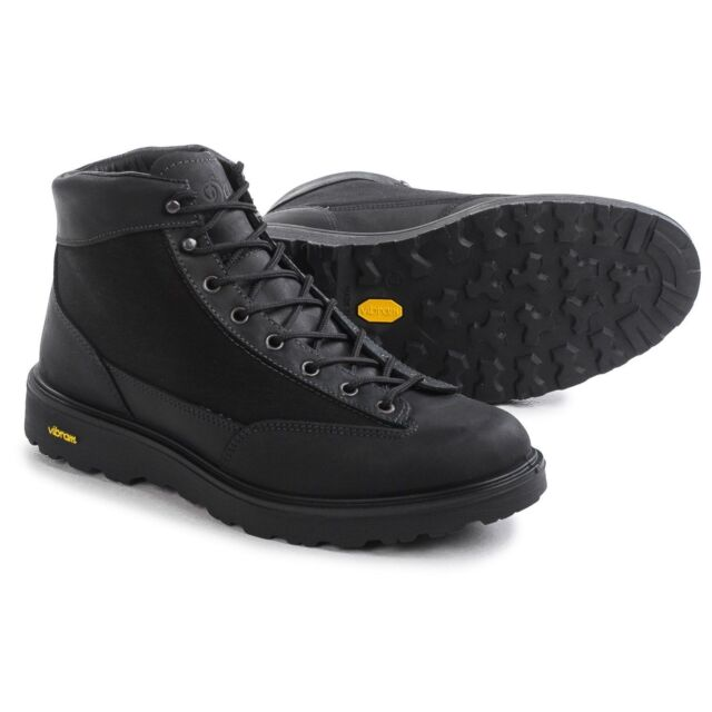 """NEW Danner DL2 Black Hike or Work Boots, 5"""", Italy Made, Leather & Cordura"""