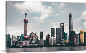 ARTCANVAS-Shanghai-China-Cloudy-Skyline-Canvas-Art-Print