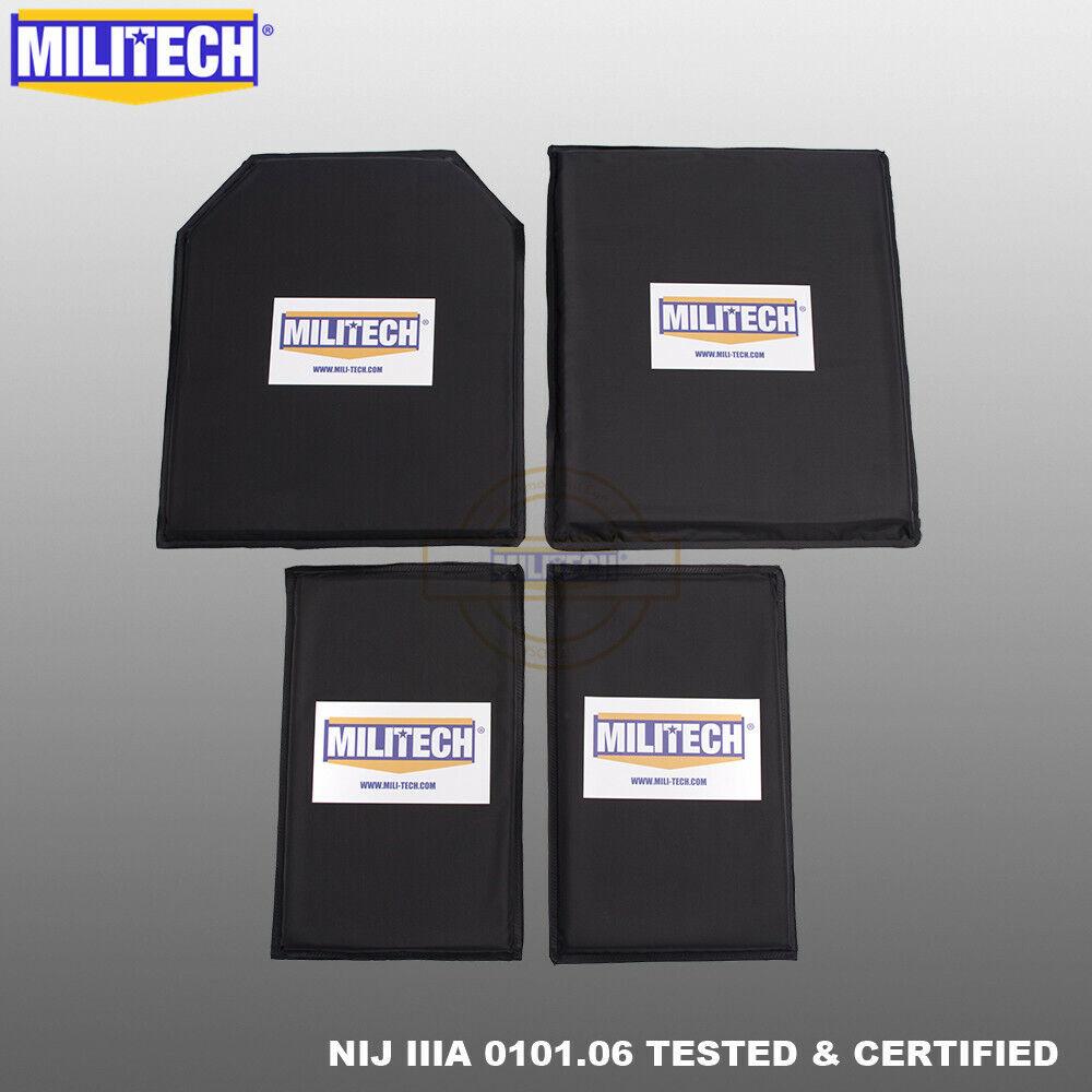 MILITECH  NIJ IIIA 10X12 STC&SC And 6X10 Two Pairs Bulletproof Armor Panel Plate  deals sale