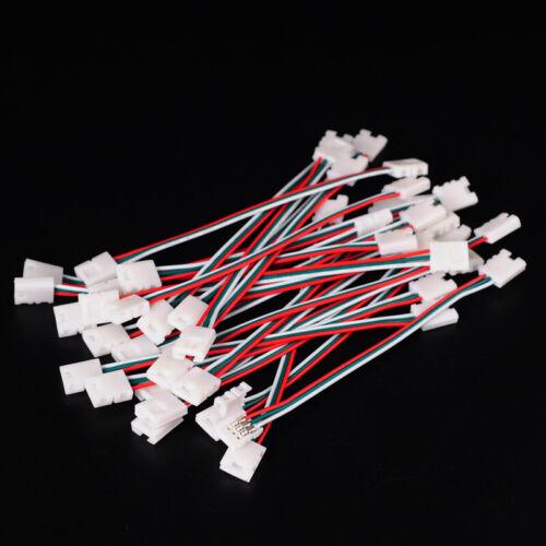 2-4 Pin RGB LED Streifen Verbinder Verteiler Verlängerungen Connectoren Kabel DE