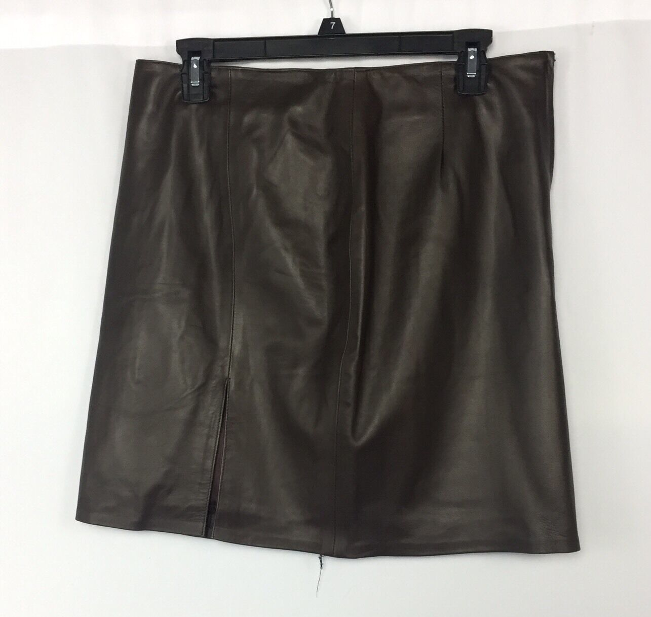 JOSE LUIS Brown Leather Skirt - Leather & Suede - Size 32 price tag  225
