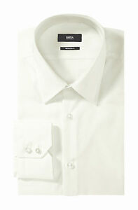 HUGO-BOSS-CAMICIA-UOMO-MOD-ENZO-Camicia-business-Regular-Fit-Facile-stiro-BIANCO