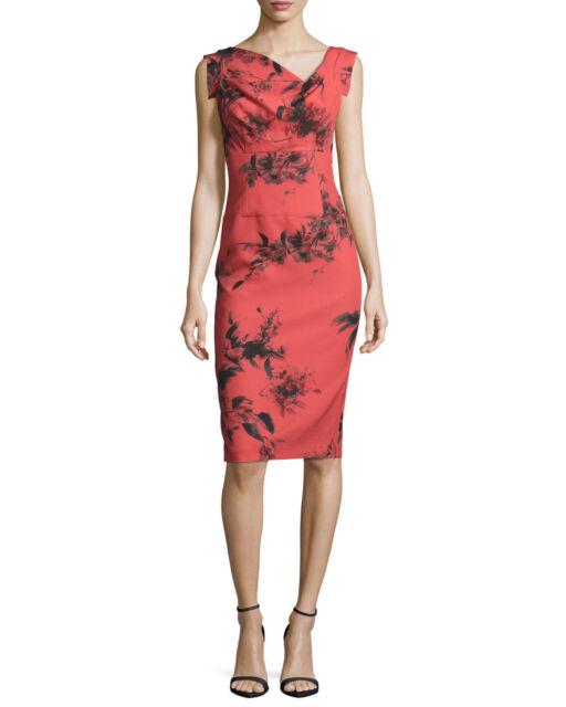 1eea36fe Black Halo Jackie O. Cap Sleeve Print Crepe Stretch Sheath Dress in  Literati 10