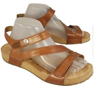 09081bd520f5c Image is loading JOSEF-SEIBEL-WOMAN-SANDALS-BROWN-LEATHER-SIZE-EUR-