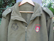 ISRAEL IDF ARMY- ENGINEERING CORPS SCHOOL FLEECE L JACKET W/ ZAHAL SIGNS ! AUTH.