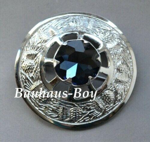 Kilt écossais Broche Bleu Set Stone Écossais Thistles frontière écossaise Menswear New