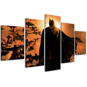 Stampe su Tela 200 x 90 cm Quadri Moderni XXL Quadro Batman Pannelli ...