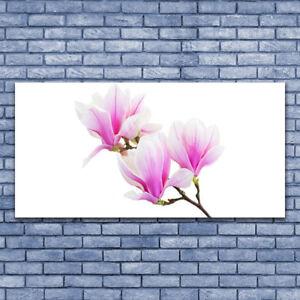 Tulup Wandbilder Glasbilder Dekobild 140x70 Blumen Pflanzen