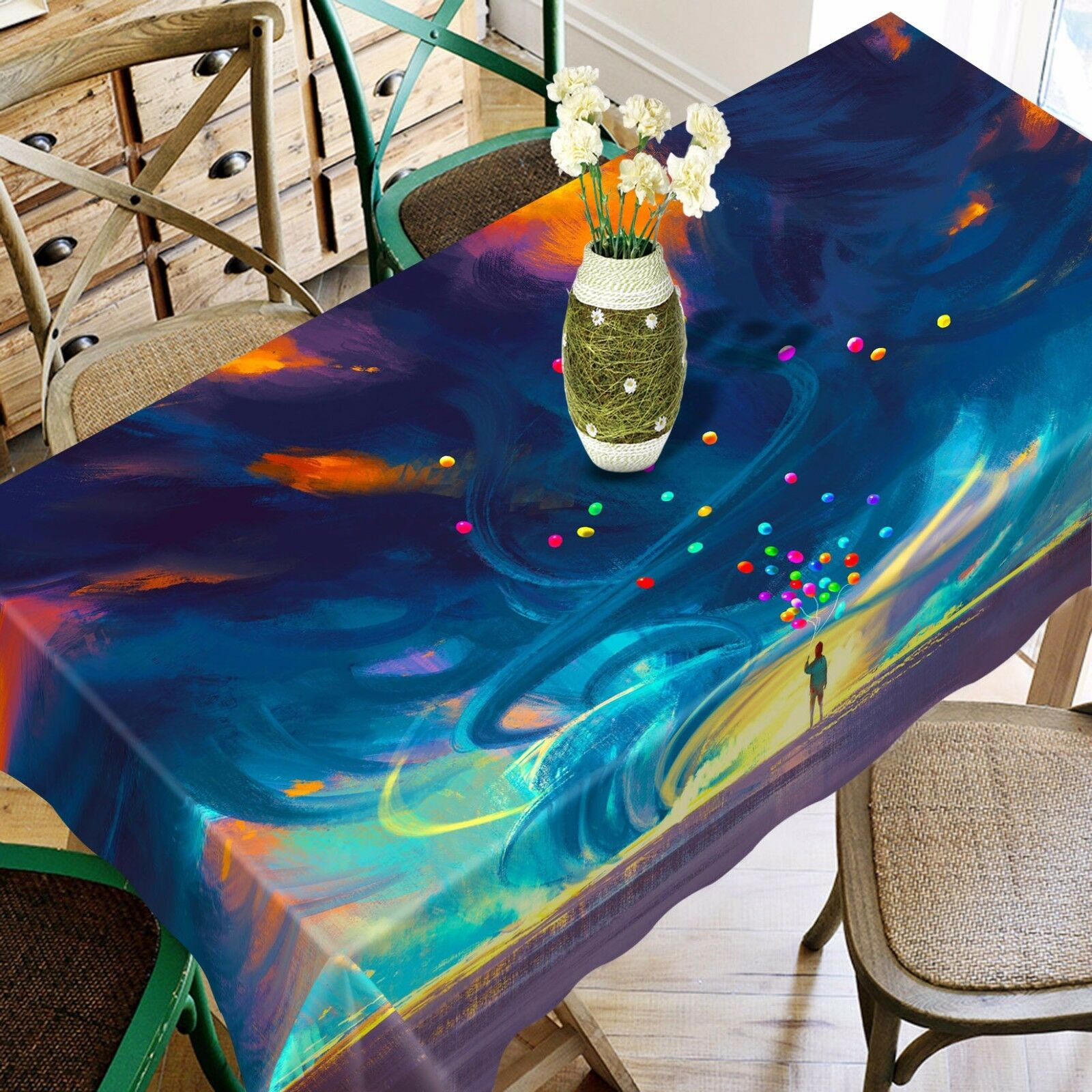 3D Draw 4808 Tablecloth Table Cover Cloth Birthday Party Event AJ WALLPAPER AU
