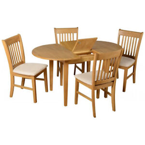 Extendable Dining Table And Chair Set