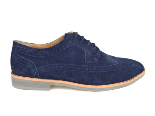 gratuito Lombard Shoes Street Suede Brogue Casual Mens Navy Silver Rrp Uk p P 60 5PZUxnw