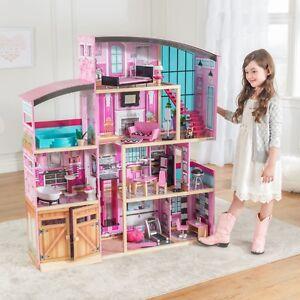 Image Is Loading Kidkraft Shimmer Mansion Uptown Dollhouse Furniture  Girls Toy