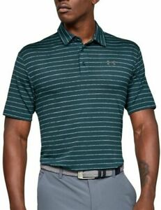 NWT $65 Under Armour Playoff Men's 3XL Golf Polo Stripe Shirt Green 1327037 433