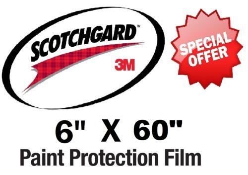 "Bulk Roll Film 6/"" x 60/""  Genuine 3M Scotchgard Paint Protection Clear Bra"