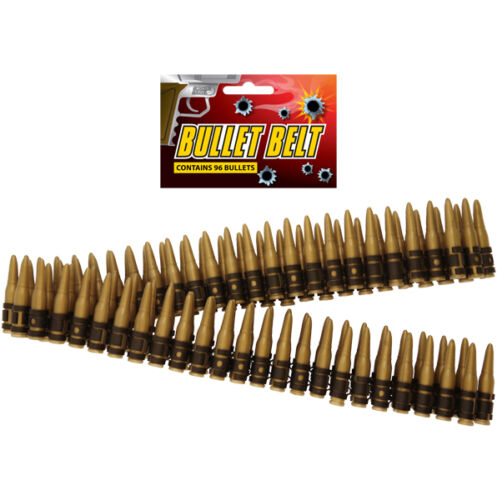 Bullet Belt 96 150cm Gold Die Hard Army Fancy Dres Party Plastic Bullets UK SELL
