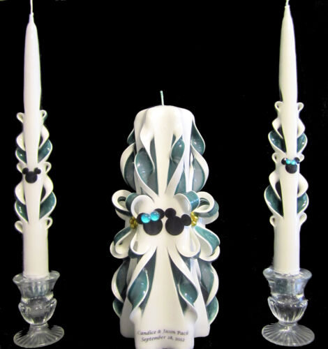 plus names /& date WOW! FREE shipping MICKEY MOUSE Custom Wedding unity candles