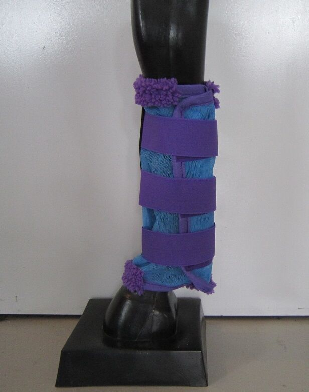 Horse Fly Mesh Boots Set  of 4 Sky bluee & Purple Australian Made fly Predection  authentic quality