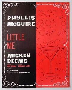 Program Little Me 1964 Phyllis McGuire Kenley Players Columbus Ohio Mickey Deems